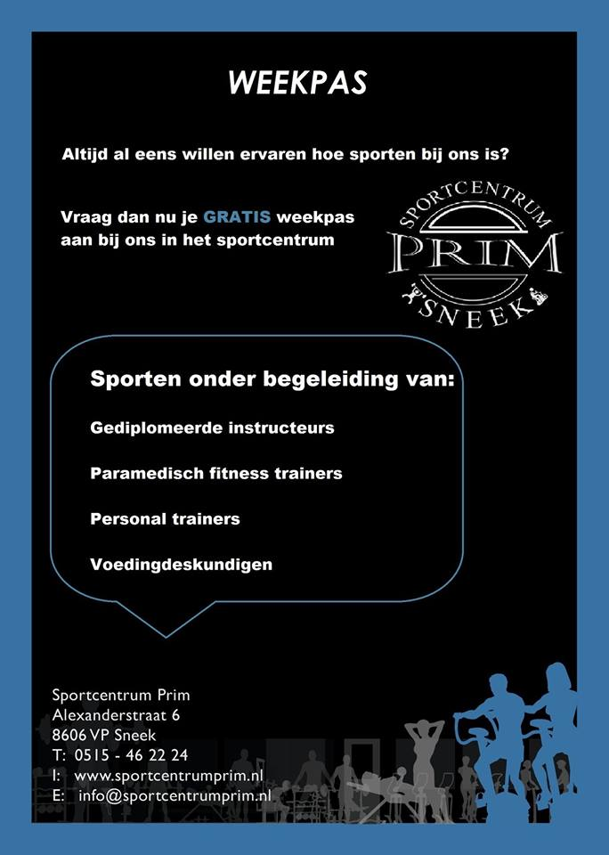 De Weekpas van Sportcentrum Prim